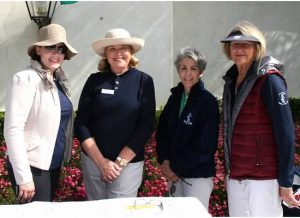 PCCH Members Shannon Cobb, Karin Jones, Vicky Lee and Pat Murphy cheerfully greeted golfers as they arrived at the tournament.