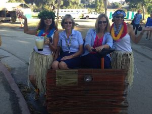 PCCH President, Bette Moen and Horse Show Chair, Val Kelly, ably assisted by Mary DiMatteo and Michelle DelConte serve Sunday morning libations to the workers!