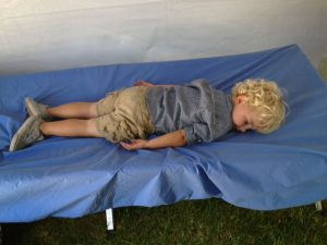 Cullen Chaky rests after a tough day at the Horse Show!