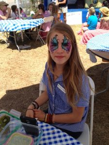 Keeley face painting