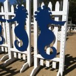 Seahorses on fence