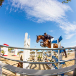 xfisheye of rider jumping