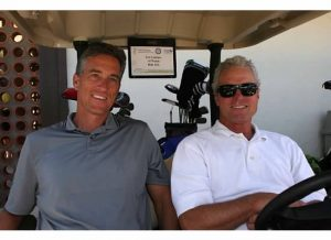 Silver Sponsor, Al Walsh from Malaga Cove Capital and Lew Latimer are ready to tee off.