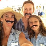 Meredith, Kelly and Megan with mustaches
