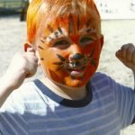 Nathan with tiger face
